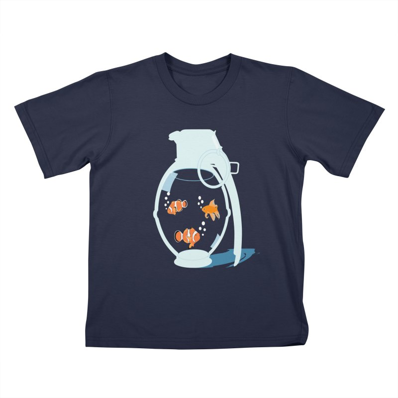 Fish Grenade Kids T-Shirt by yakitoko's Artist Shop