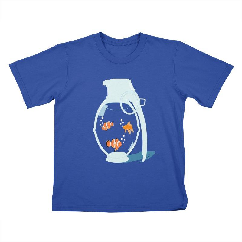 Fish Grenade Kids T-Shirt by yakitoko's Artist Shop