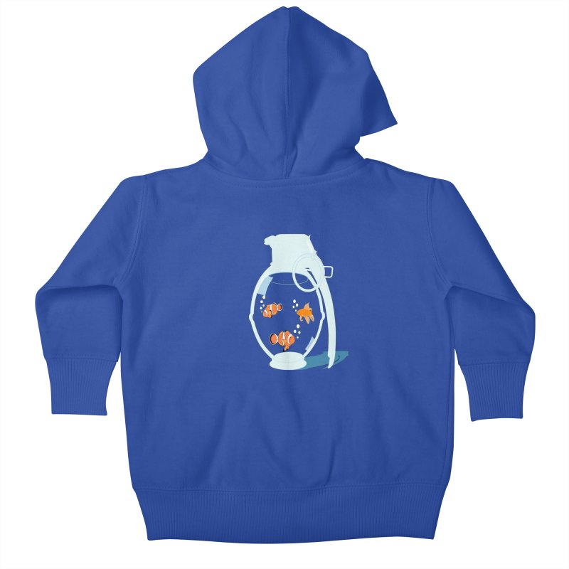Fish Grenade Kids Baby Zip-Up Hoody by yakitoko's Artist Shop