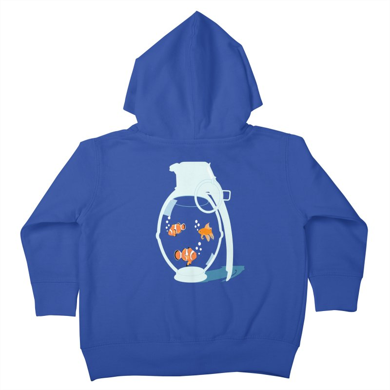 Fish Grenade Kids Toddler Zip-Up Hoody by yakitoko's Artist Shop