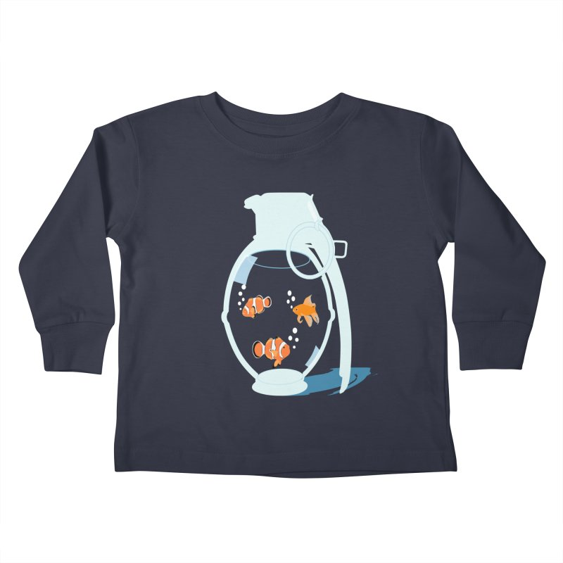 Fish Grenade Kids Toddler Longsleeve T-Shirt by yakitoko's Artist Shop