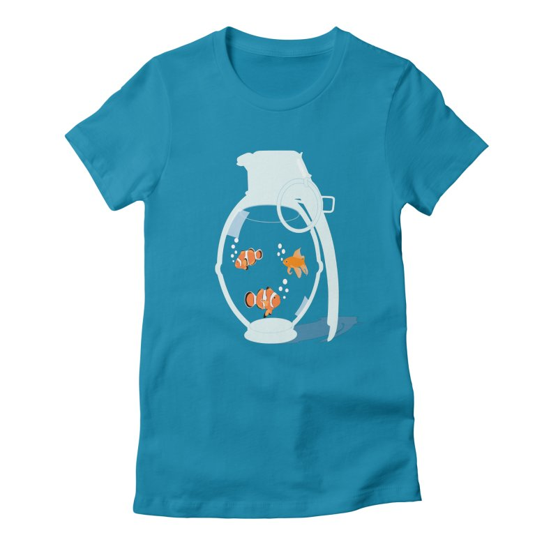 Fish Grenade Women's Fitted T-Shirt by yakitoko's Artist Shop