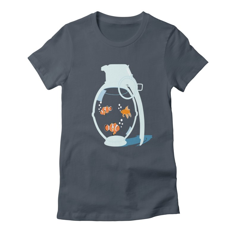 Fish Grenade Women's T-Shirt by yakitoko's Artist Shop