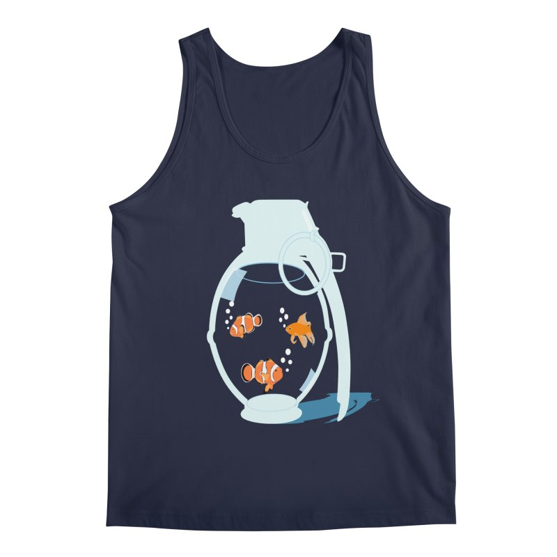 Fish Grenade Men's Regular Tank by yakitoko's Artist Shop