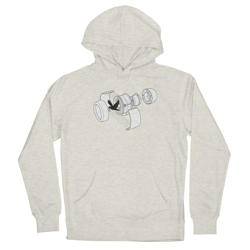 Jet engine victim Men's Pullover Hoody by yakitoko's Artist Shop