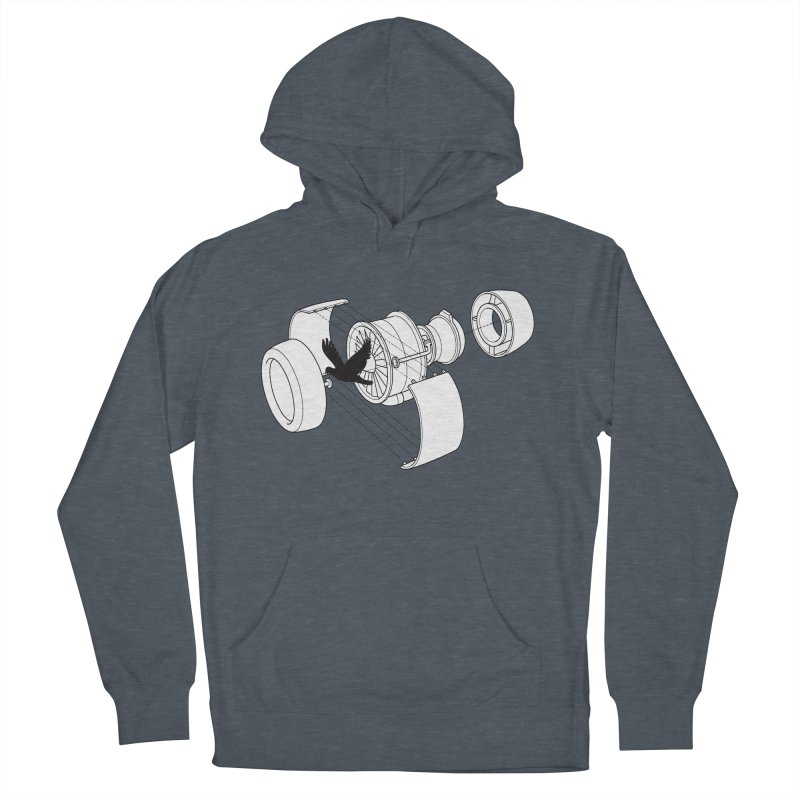 Jet engine victim Women's French Terry Pullover Hoody by yakitoko's Artist Shop
