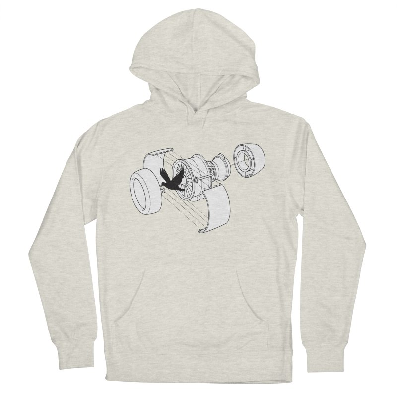 Jet engine victim Men's French Terry Pullover Hoody by yakitoko's Artist Shop