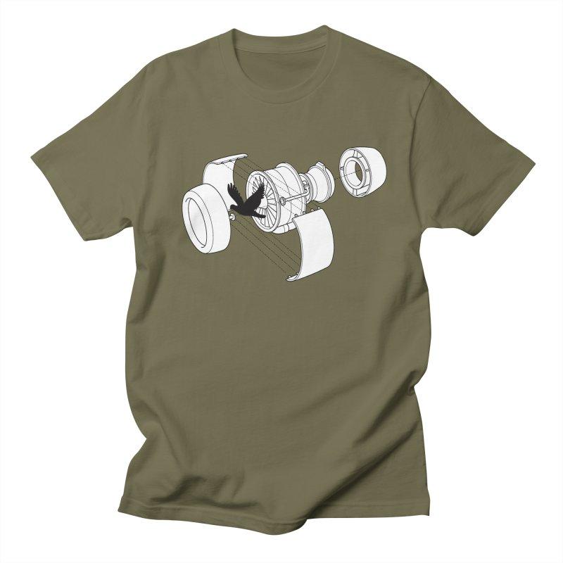 Jet engine victim Men's T-shirt by yakitoko's Artist Shop