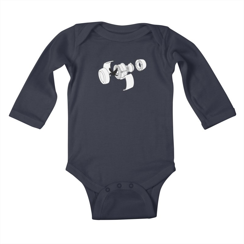 Jet engine victim Kids Baby Longsleeve Bodysuit by yakitoko's Artist Shop