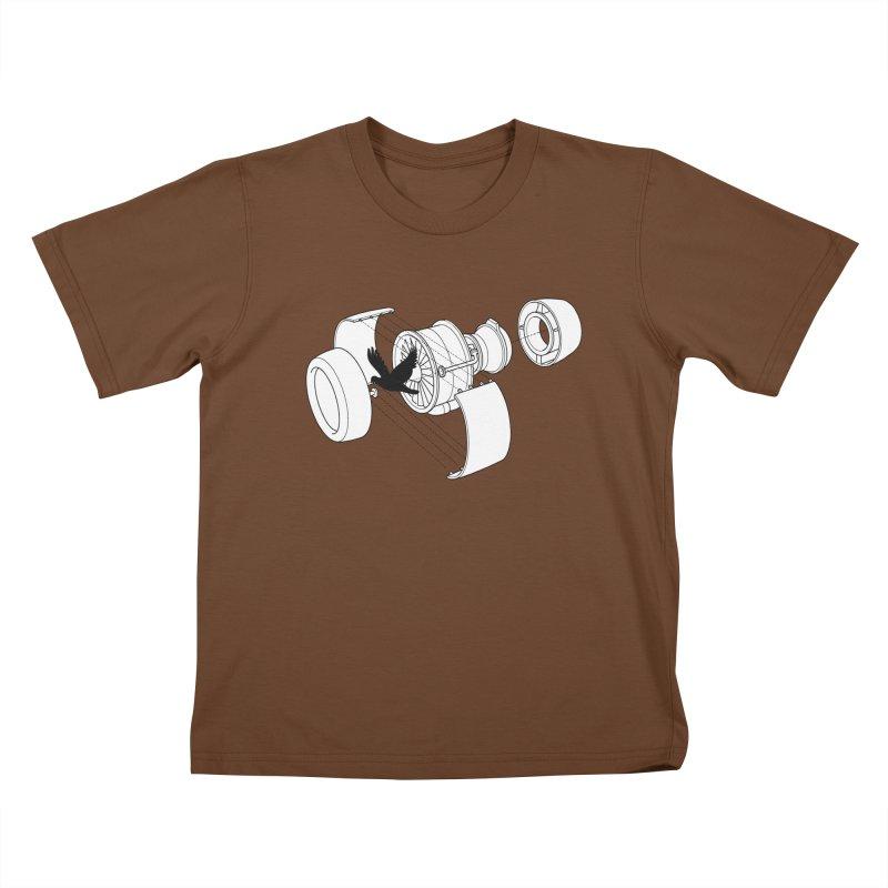 Jet engine victim Kids T-Shirt by yakitoko's Artist Shop