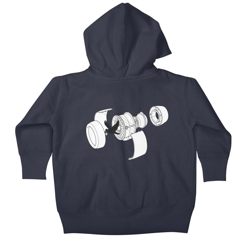 Jet engine victim Kids Baby Zip-Up Hoody by yakitoko's Artist Shop