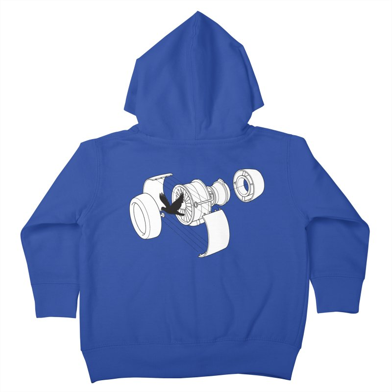 Jet engine victim Kids Toddler Zip-Up Hoody by yakitoko's Artist Shop
