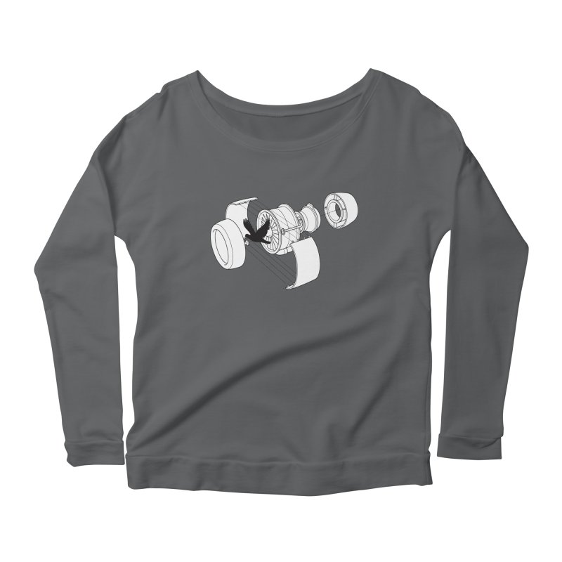 Jet engine victim Women's Longsleeve T-Shirt by yakitoko's Artist Shop