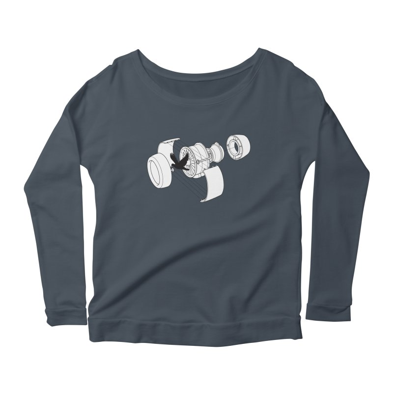 Jet engine victim Women's Scoop Neck Longsleeve T-Shirt by yakitoko's Artist Shop