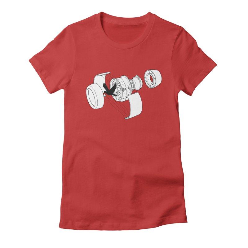 Jet engine victim Women's T-Shirt by yakitoko's Artist Shop