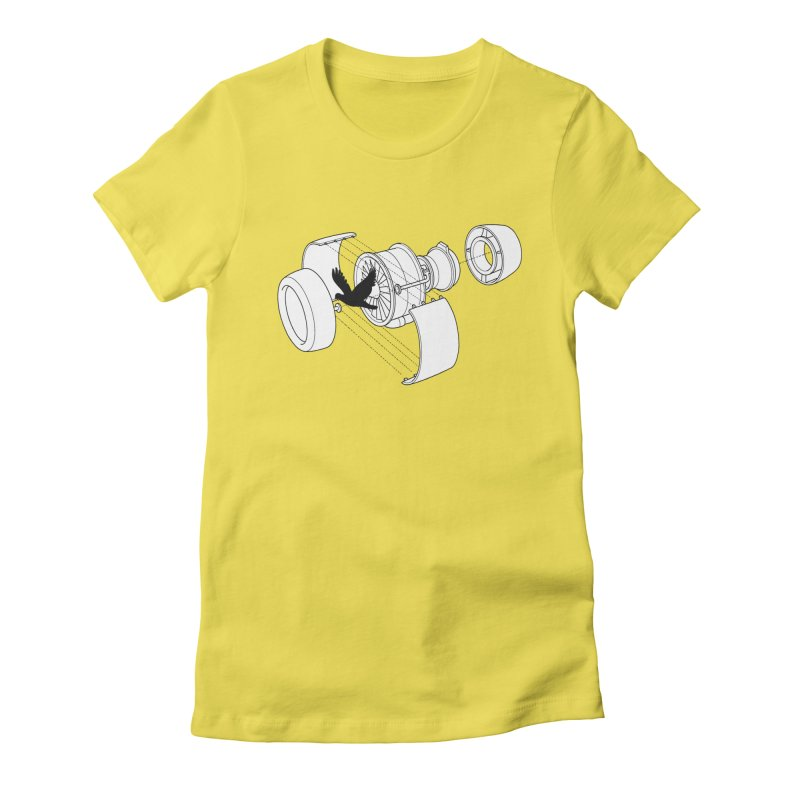 Jet engine victim Women's Fitted T-Shirt by yakitoko's Artist Shop