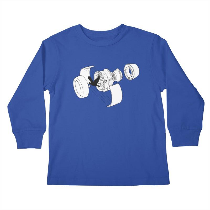 Jet engine victim Kids Longsleeve T-Shirt by yakitoko's Artist Shop