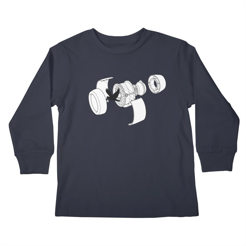 Jet engine victim Kids Longsleeve T-Shirt by yakitoko's Artist Shop