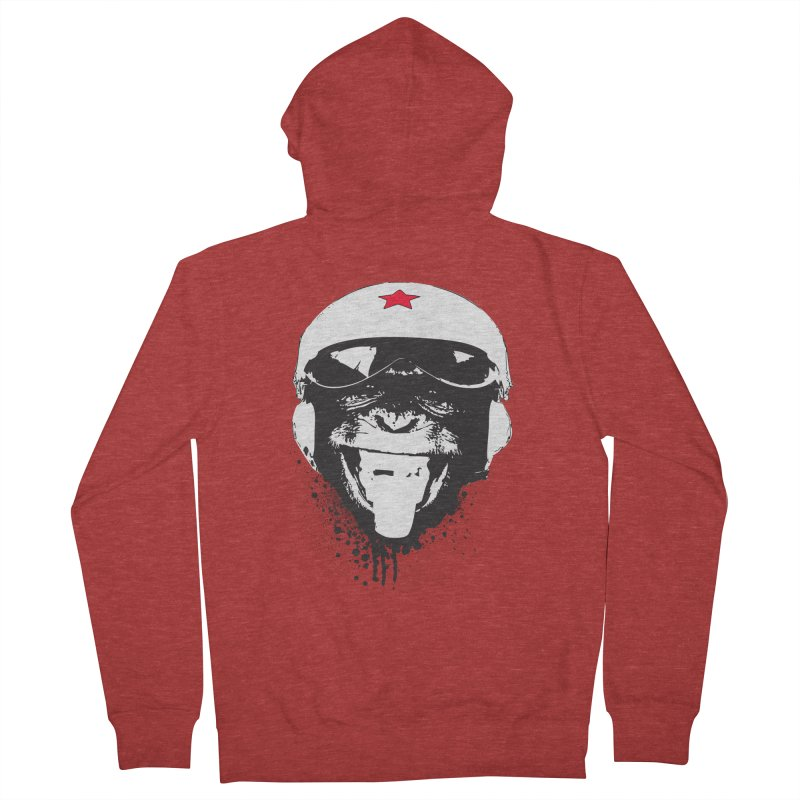 Flying Monkey Women's French Terry Zip-Up Hoody by yakitoko's Artist Shop