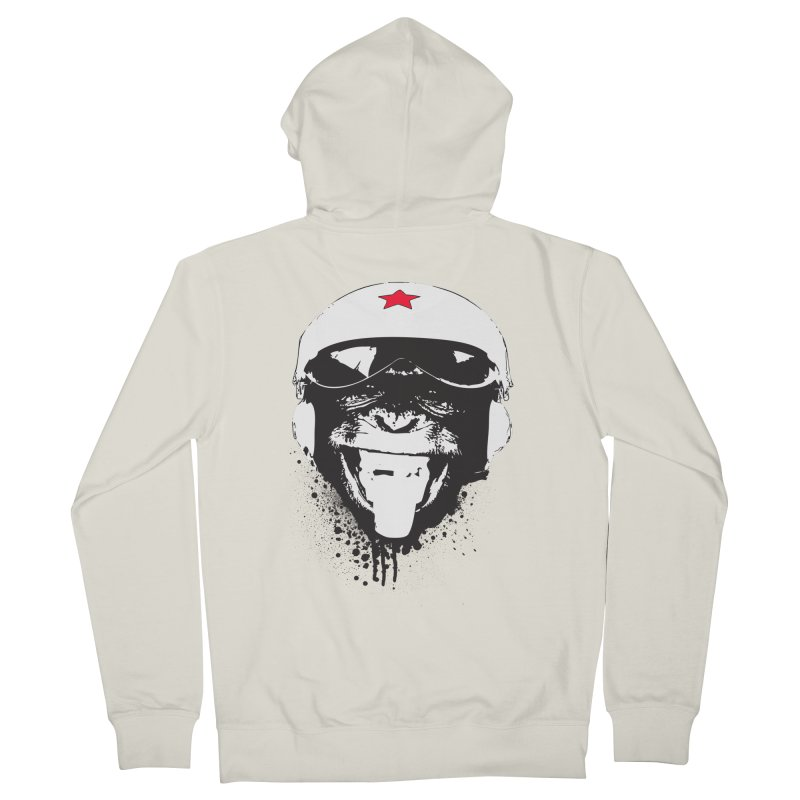 Flying Monkey Men's French Terry Zip-Up Hoody by yakitoko's Artist Shop