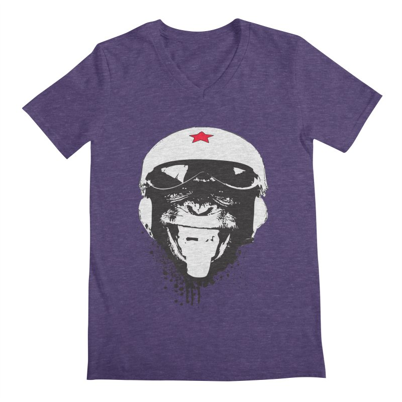Flying Monkey Men's V-Neck by yakitoko's Artist Shop