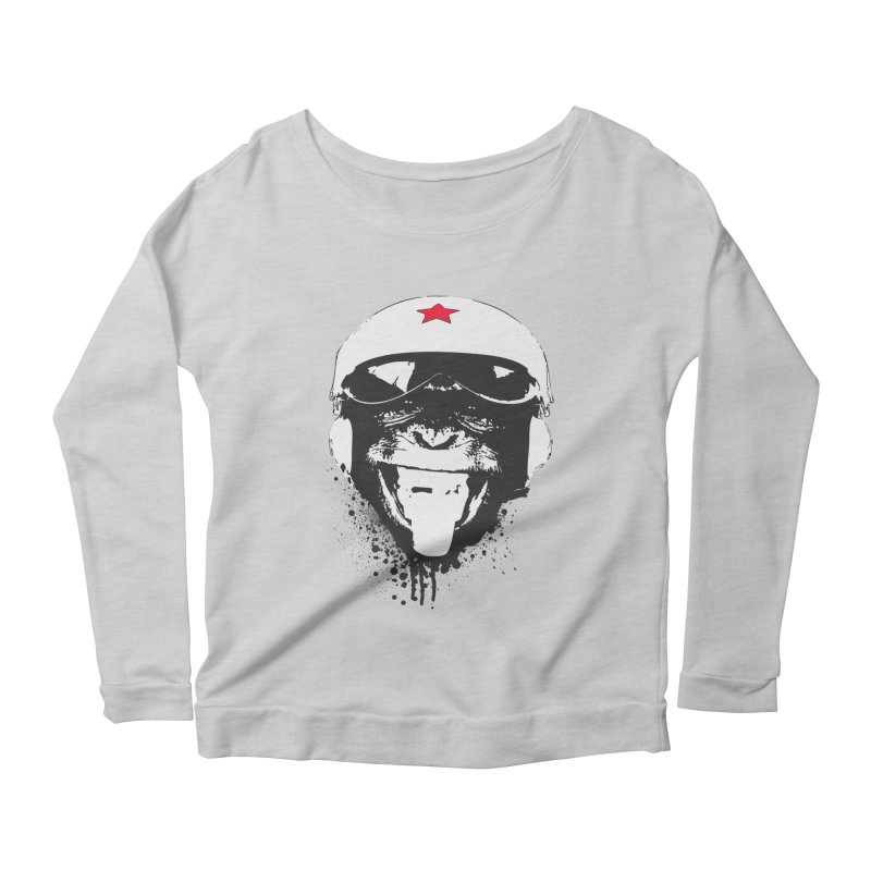 Flying Monkey Women's Scoop Neck Longsleeve T-Shirt by yakitoko's Artist Shop
