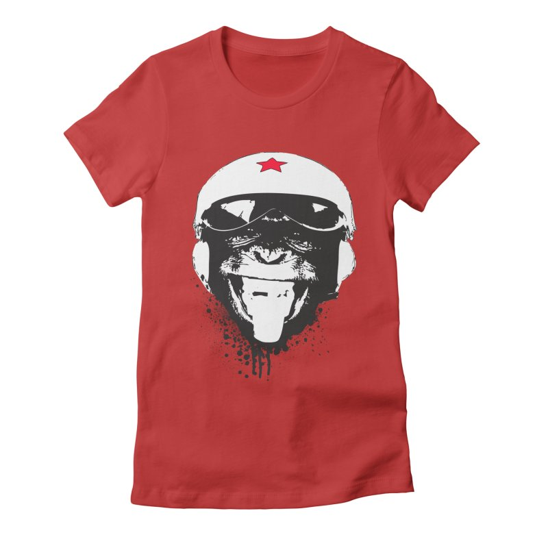 Flying Monkey Women's Fitted T-Shirt by yakitoko's Artist Shop