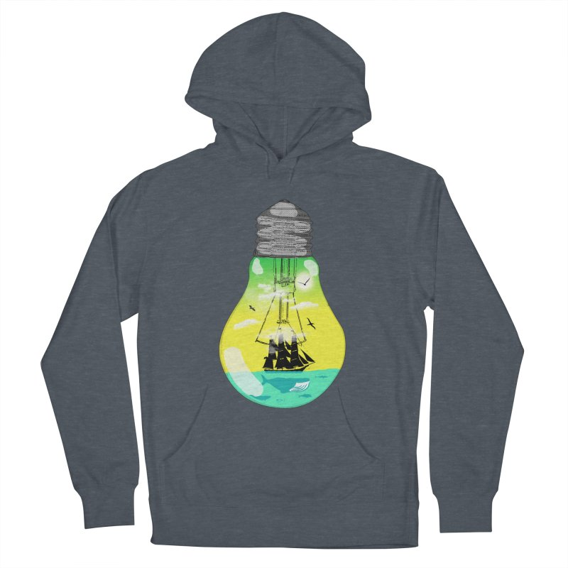 Sea travel Men's French Terry Pullover Hoody by yakitoko's Artist Shop