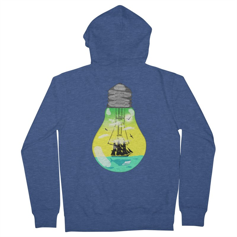 Sea travel Men's French Terry Zip-Up Hoody by yakitoko's Artist Shop