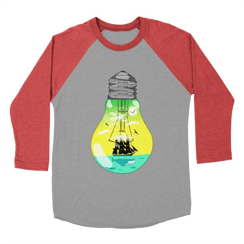 Sea travel Men's Baseball Triblend Longsleeve T-Shirt by yakitoko's Artist Shop
