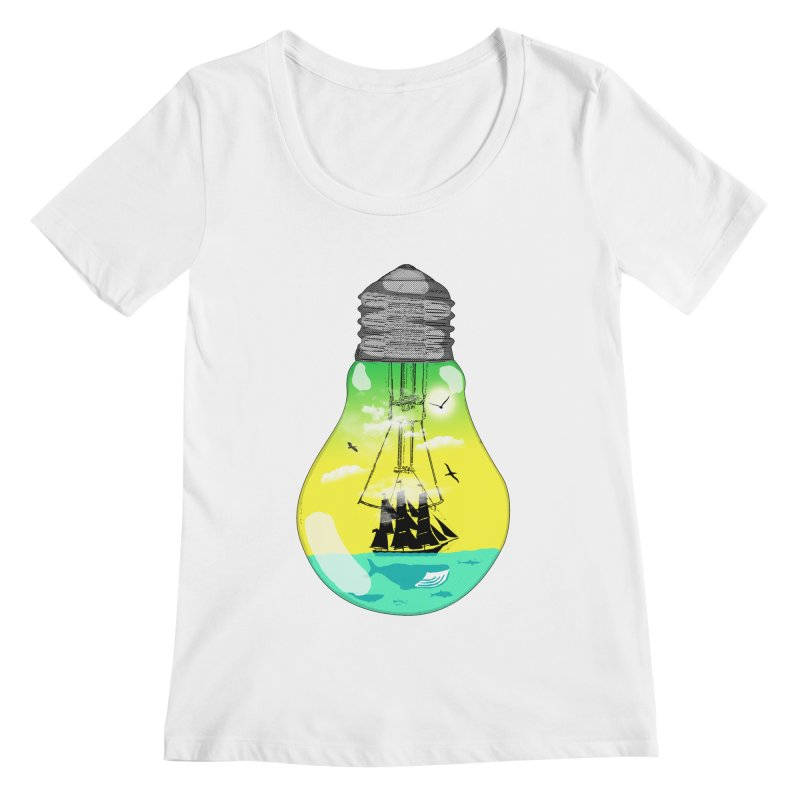Sea travel Women's Scoopneck by yakitoko's Artist Shop