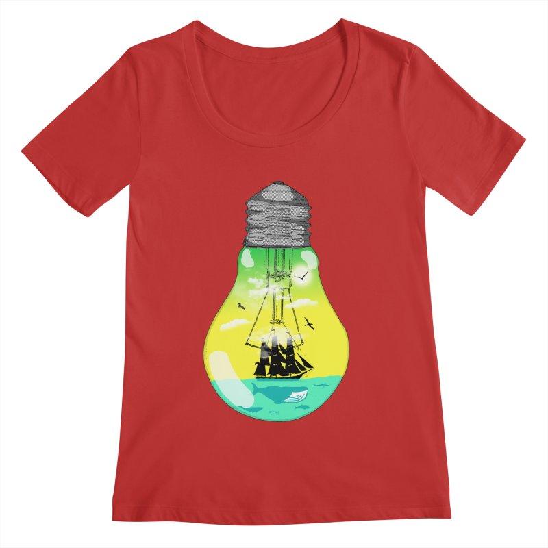 Sea travel Women's Regular Scoop Neck by yakitoko's Artist Shop