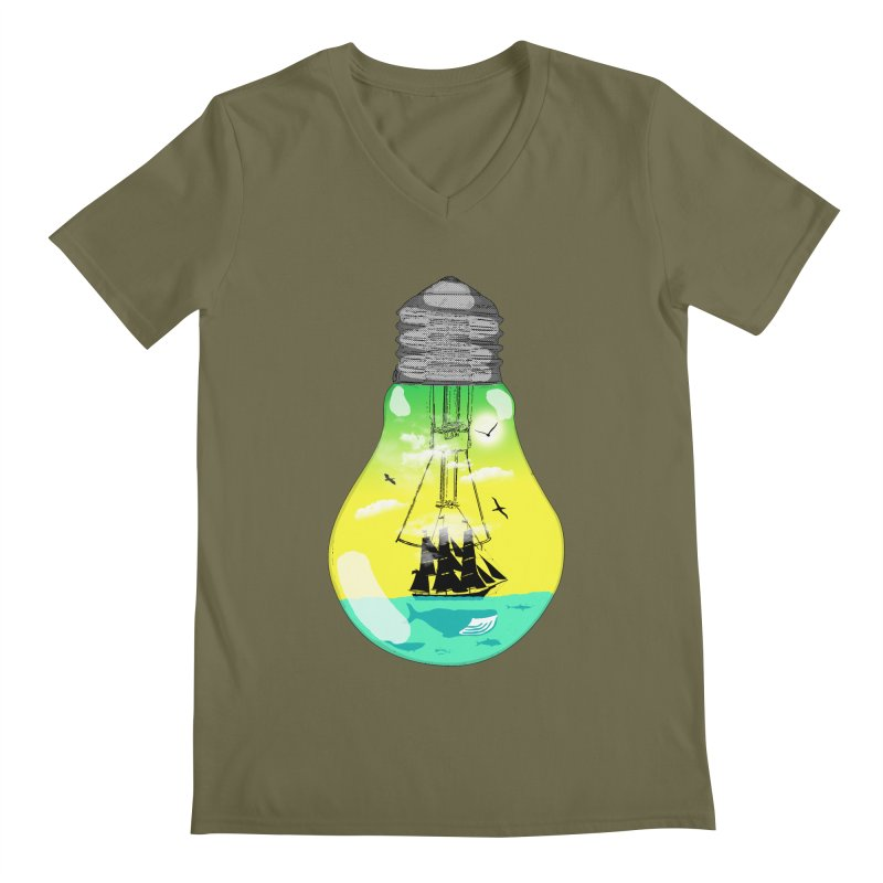 Sea travel Men's V-Neck by yakitoko's Artist Shop