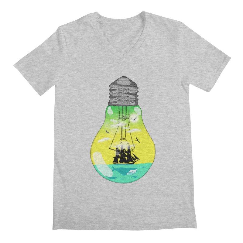 Sea travel Men's V-Neck by yakitoko's Artist Shop