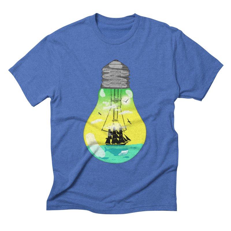 Sea travel Men's Triblend T-shirt by yakitoko's Artist Shop