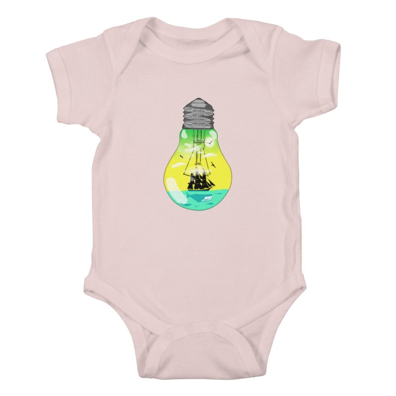 Sea travel Kids Baby Bodysuit by yakitoko's Artist Shop
