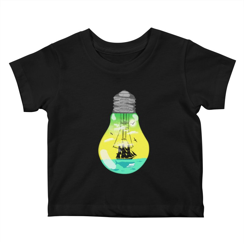 Sea travel Kids Baby T-Shirt by yakitoko's Artist Shop
