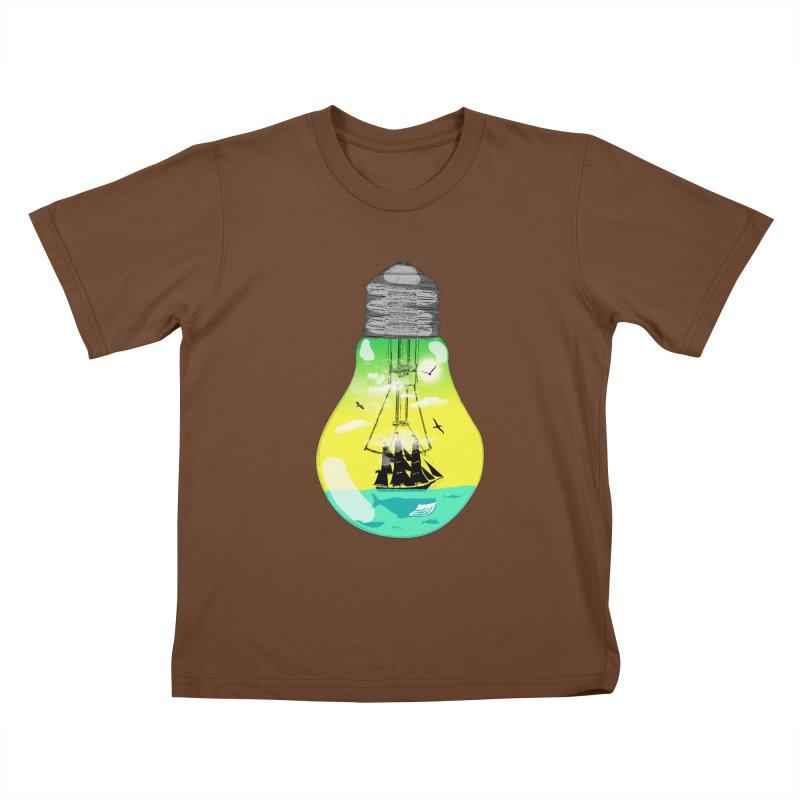 Sea travel Kids T-Shirt by yakitoko's Artist Shop