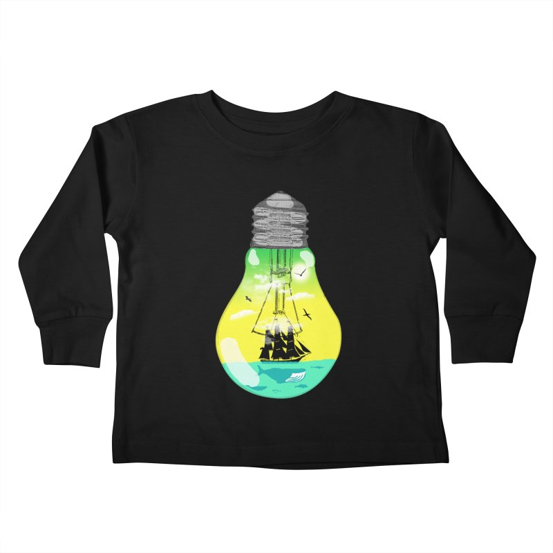 Sea travel Kids Toddler Longsleeve T-Shirt by yakitoko's Artist Shop