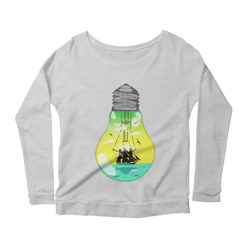 Sea travel Women's Scoop Neck Longsleeve T-Shirt by yakitoko's Artist Shop