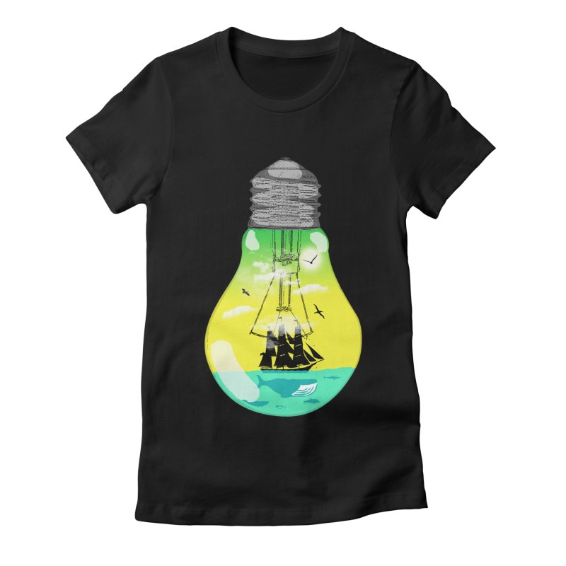 Sea travel Women's Fitted T-Shirt by yakitoko's Artist Shop