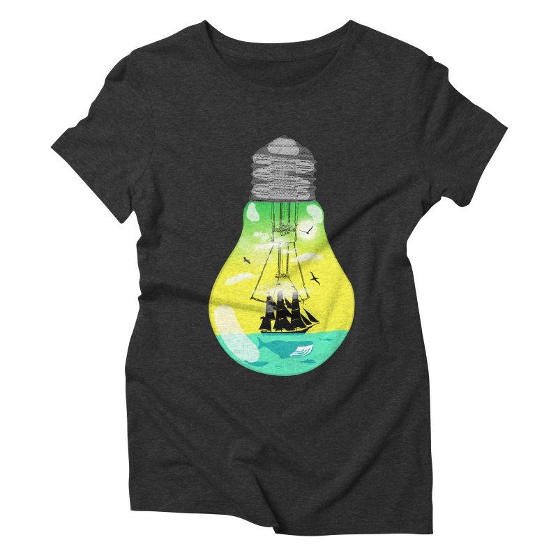 Sea travel Women's Triblend T-Shirt by yakitoko's Artist Shop