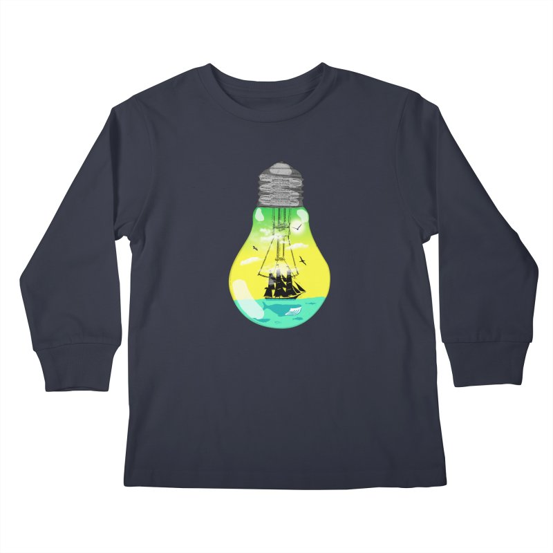 Sea travel Kids Longsleeve T-Shirt by yakitoko's Artist Shop