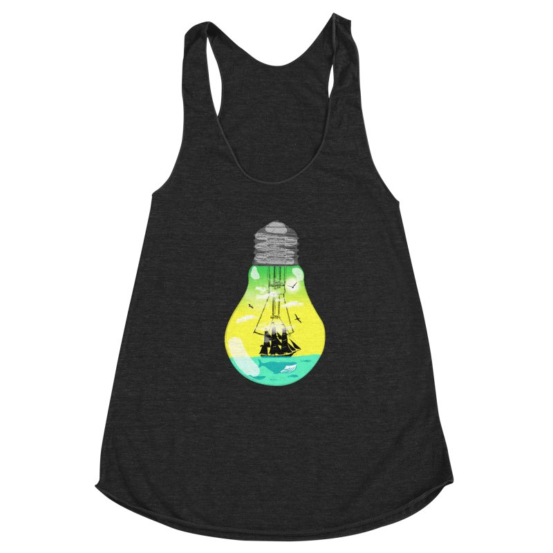 Sea travel Women's Racerback Triblend Tank by yakitoko's Artist Shop