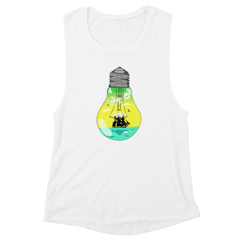 Sea travel Women's Muscle Tank by yakitoko's Artist Shop