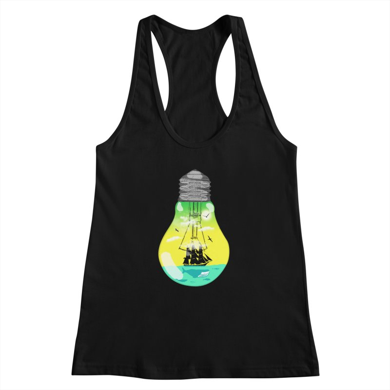 Sea travel Women's Racerback Tank by yakitoko's Artist Shop