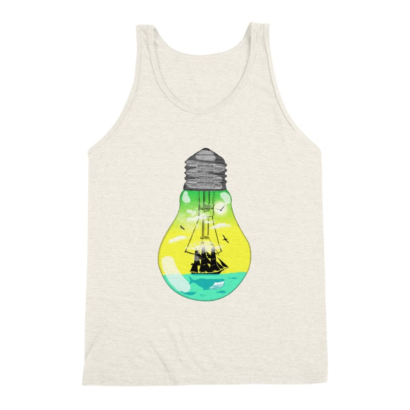Sea travel Men's Triblend Tank by yakitoko's Artist Shop