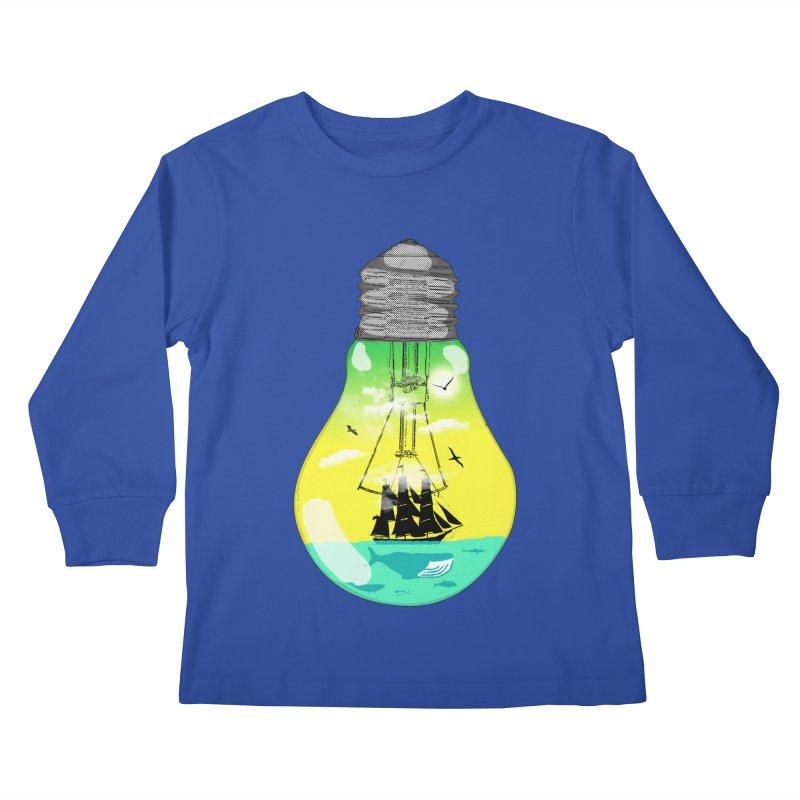 Sea travel Kids Longsleeve T-Shirt by yakitoko's Artist Shop