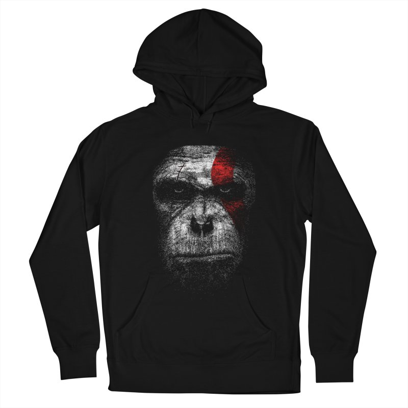 Ape of war Men's French Terry Pullover Hoody by yakitoko's Artist Shop
