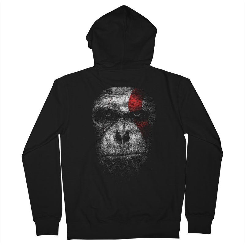 Ape of war Men's French Terry Zip-Up Hoody by yakitoko's Artist Shop